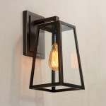 Modern style 1 light glass wall light