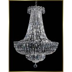 12 lights crystal chandelier in polished chrome finish