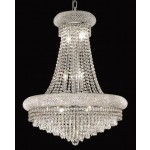 14 Light Crystal chandelier in chrome finish